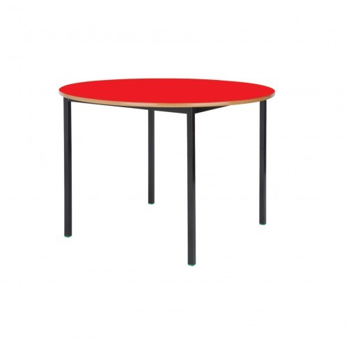 School Table Circular 1000mm Fully Welded Frame MDF Bullnose Edge