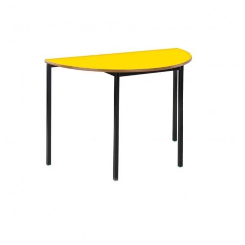 School Table Semi-Circular 1200mm Fully Welded Frame MDF Bullnose Edge