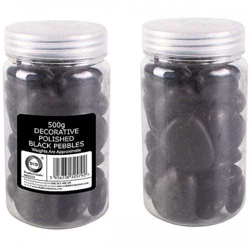 School Pebbles Black Assorted 500g [Pack 1]