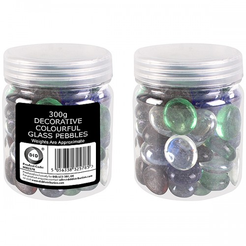 School Pebbles Glass Assorted 300g [Pack 1]