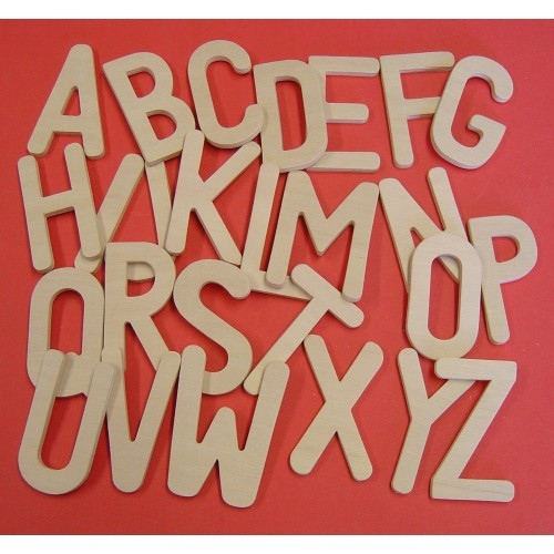 School Upper Case Letters Wooden 80mm [Pack 26]