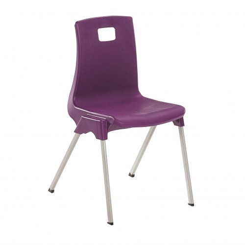 School Classroom Chair Ergonomic Size 4 Seat Height 380mm 8-11 Years - 15 Year Guarantee