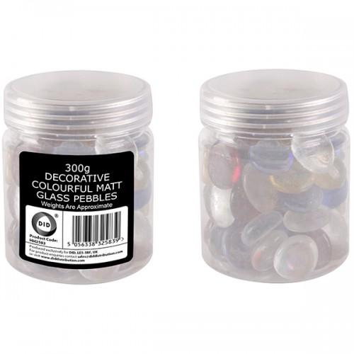School Pebbles Matt Glass Assorted 300g [Pack 1]