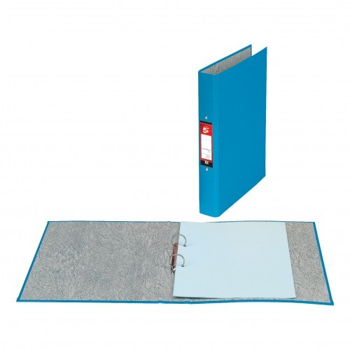 School 2-Ring Binder A4 Paper-On-Board Blue [Pack 10]