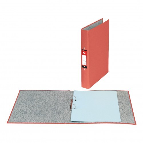School 2-Ring Binder A4 Paper-On-Board Red [Pack 10]