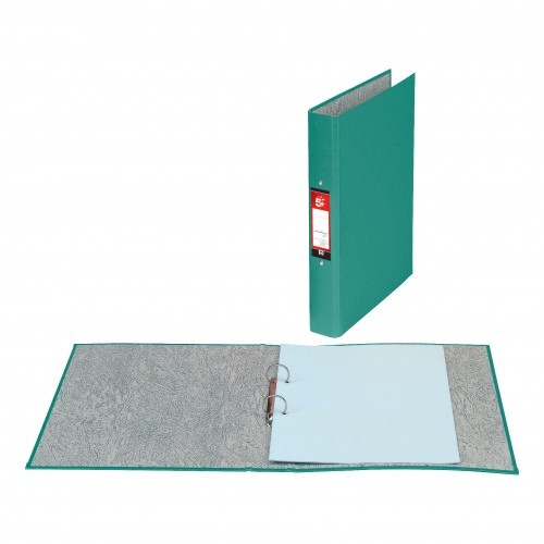 School 2-Ring Binder A4 Paper-On-Board Green [Pack 10]