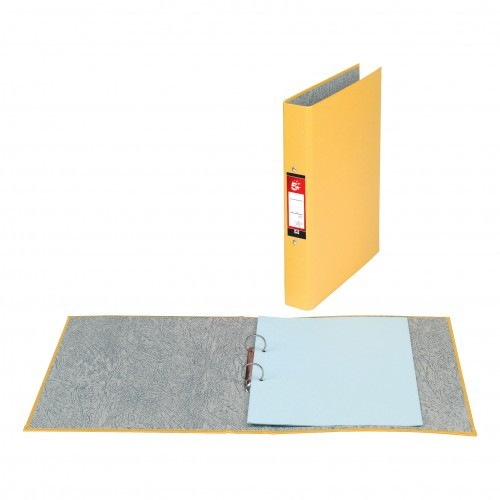 School 2-Ring Binder A4 Paper-On-Board Yellow [Pack 10]