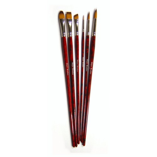 School Acrylic Painting Brush Set [Pack 6]