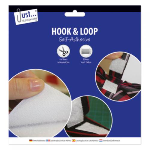 School Hook and Loop Sheet Self-adhesive Backing 190x80mm [Pack 2]