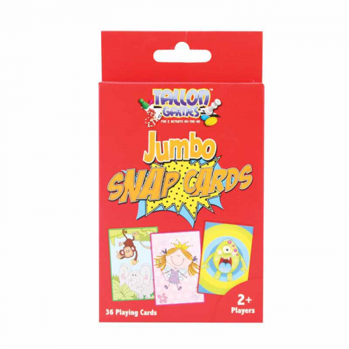 School Jumbo Snap Playing Cards 85x123mm [Pack 1]