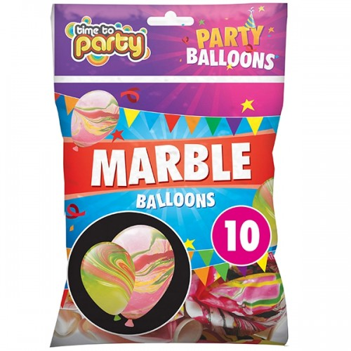 School Marble Balloons [Pack 10]