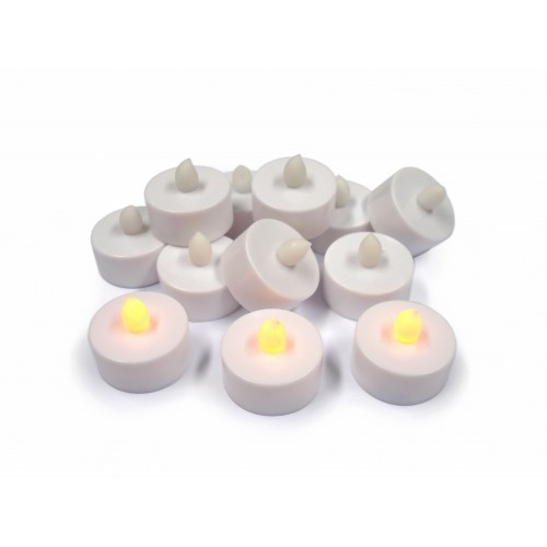 School LED Flickering Tea Lights Batteries Included [Pack 12]