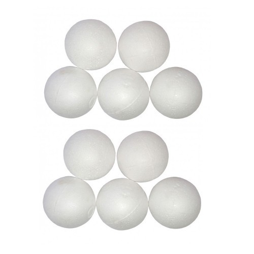 School Polystyrene Ball 50mm [Pack 10]