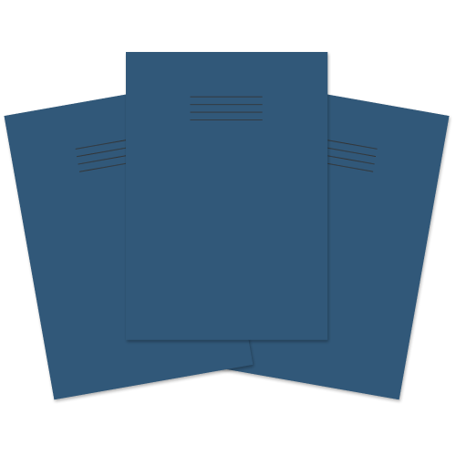 School Exercise Book A4 80 Pages 8mm Ruled & Margin Dark Blue [Pack 50]