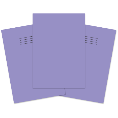 School Exercise Book A4 80 Pages 8mm Ruled & Margin Purple [Pack 50]