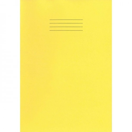 School Exercise Book A4 80 Pages 5mm Squares Yellow [Pack 50]