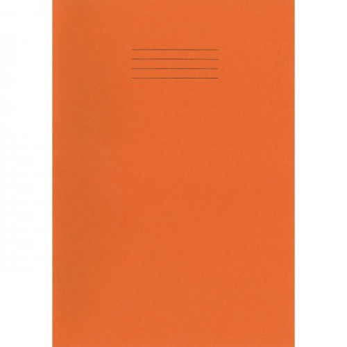 School Exercise Book A4 80 Pages 7mm Squares Orange [Pack 50]