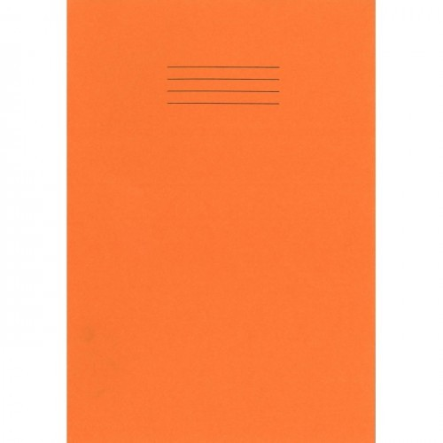 School Exercise Book A4 80 Pages 10mm Squares Orange [Pack 50]