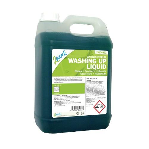 School Antibacterial Washing-up Liquid 5 Litre [Pack 1]