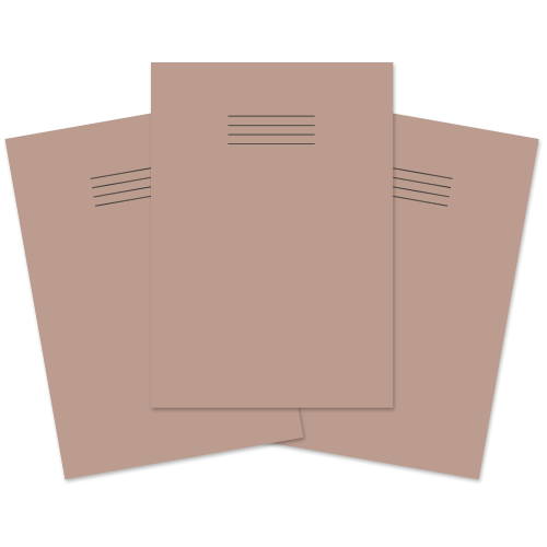 School Exercise Book A4 64 Pages Plain Buff [Pack 50]