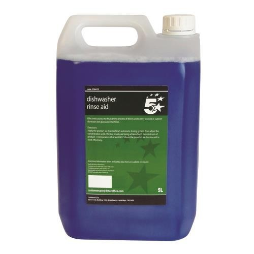 School Dishwasher Rinse Aid 5 Litre [Pack 1]