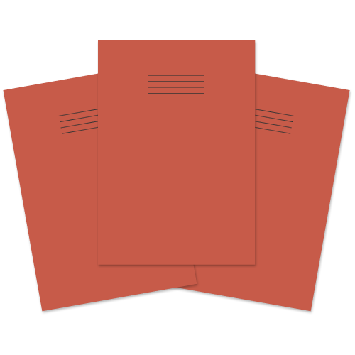 School Exercise Book A4 64 Pages Plain Red [Pack 50]