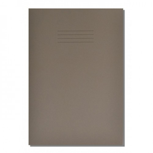 School Exercise Book A4 64 Pages 8mm Ruled & Margin Grey [Pack 50]