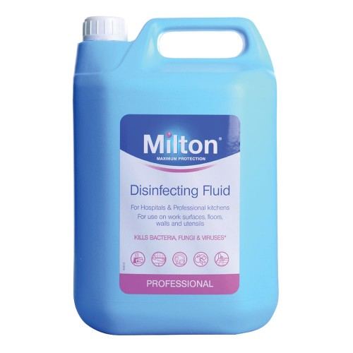 School Disinfecting & Sterilising Fluid 5 Litre - Milton [Pack 1]