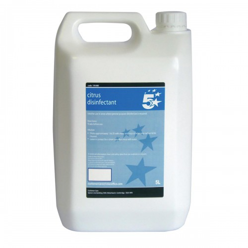 School Citrus Disinfectant 5 Litre [Pack 1]