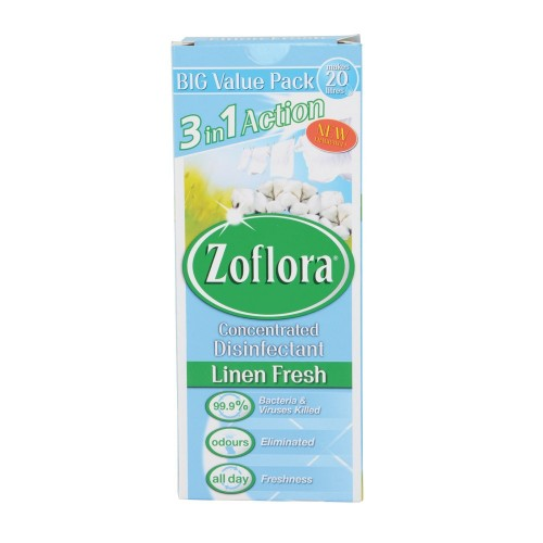 School 3in1 Action Concentrated Disinfectant Linen Fresh 500ml - Zoflora [Pack 1]