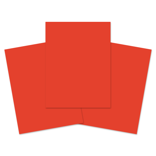School Exercise Book A4+ 40 Pages Plain Unruled Red [Pack 100]