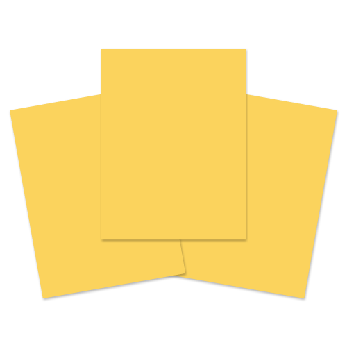 School Exercise Book A4+ 40 Pages Plain Unruled Yellow [Pack 100]