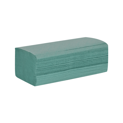 School Hand Towels V-Fold One-ply Green 200x250mm [Pack 3600]