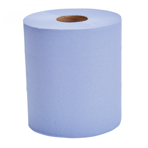 School Centrefeed Hand Towels Two-ply Blue 190mm(w) x 150m(l) [Pack 6]