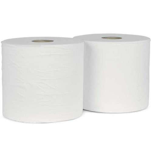 School Giant Wiper Roll Two-ply White 275mm(w) x 380m(l) [Pack 2]
