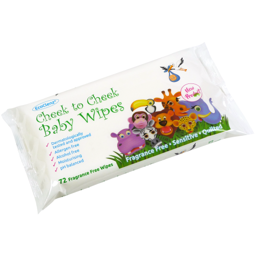 School Baby Wipes Quilted Moisturising Fragrance Free PH Balanced [Pack 72]