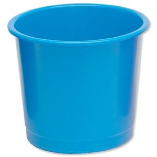 School Waste Bin / Bucket 14 Litre Blue [Pack 1]