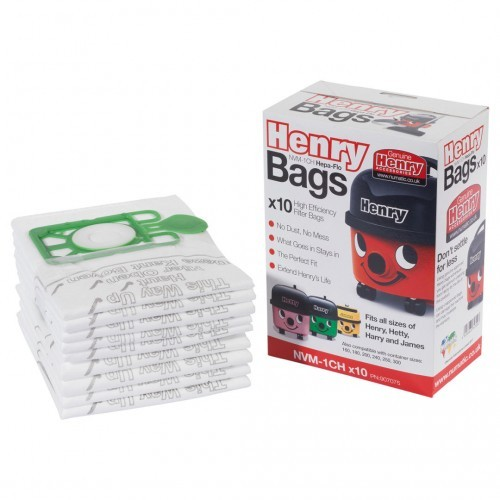 School Replacement Vacuum Bags Henry, Hetty and James [Pack 10]