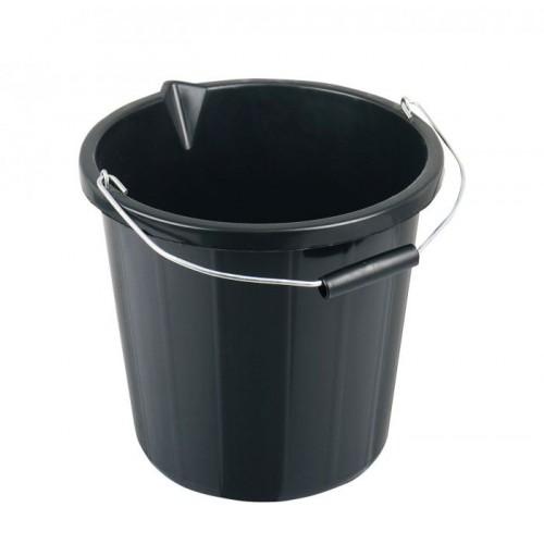 School General Purpose 15 Litre Black Bucket [Pack 1]