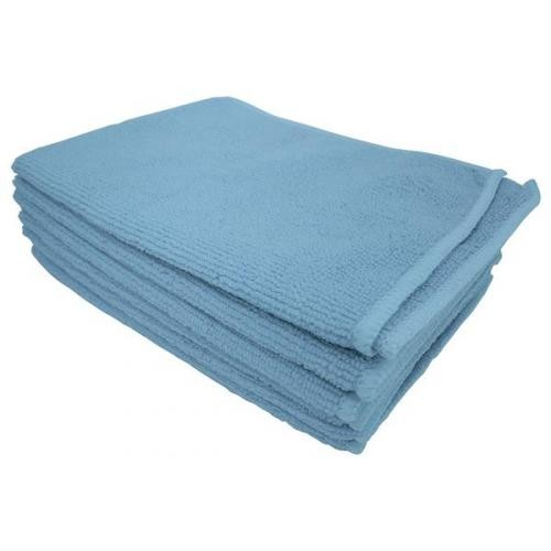 School Microfibre Cleaning Cloths Blue [Pack 10]