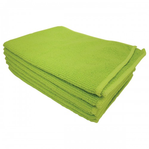 School Microfibre Cleaning Cloths Green [Pack 10]