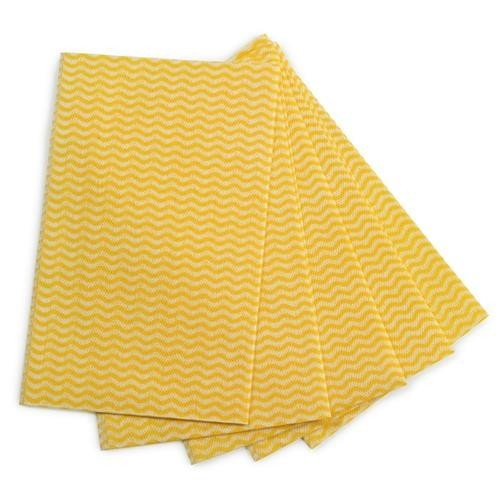 School All-purpose Cleaning Cloths Yellow [Pack 50]