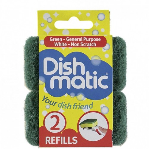 School Dishmatic Washing-up Brush Replacement Heads For Use With Item MS1545 [Pack 2]