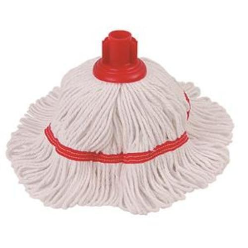 School Threaded Mop 250g Head Polyester/Cotton Blend Red [Pack 1]