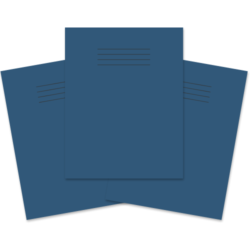 School Exercise Book 9x7 80 Pages 8mm Ruled & Margin Dark Blue [Pack 100]