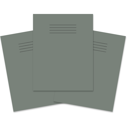 School Exercise Book 9x7 80 Pages 8mm Ruled & Margin Grey [Pack 100]