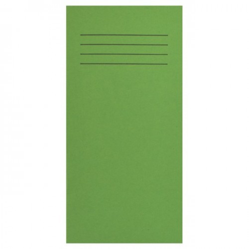 School Exercise Book 8x4 32 Pages 8mm Ruled Light Green [Pack 100]