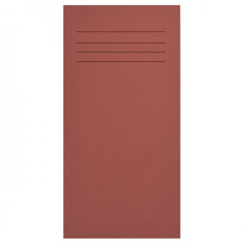 School Exercise Book 8x4 32 Pages 8mm Ruled Red [Pack 100]