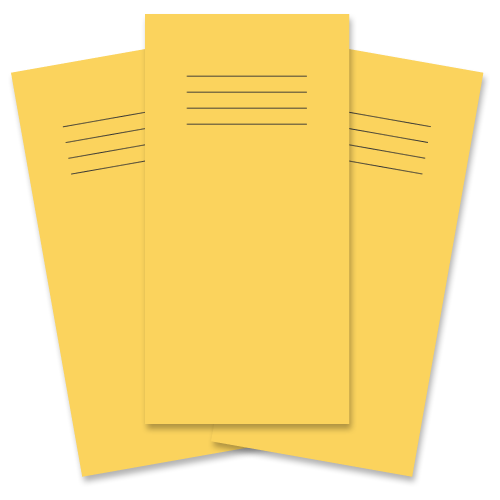 School Exercise Book 8x4 32 Pages 8mm Ruled Yellow [Pack 100]