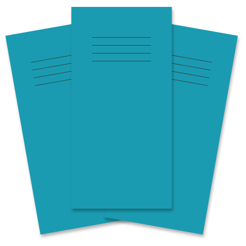 School Exercise Book 8x4 32 Pages 12mm Ruled Light Blue [Pack 100]